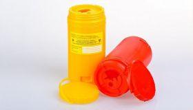 Емкость-контейнер одноразовый для острых медицинских отходов с иглосъемником класса Б– «ОЛДАНС», объемом 1 л.,